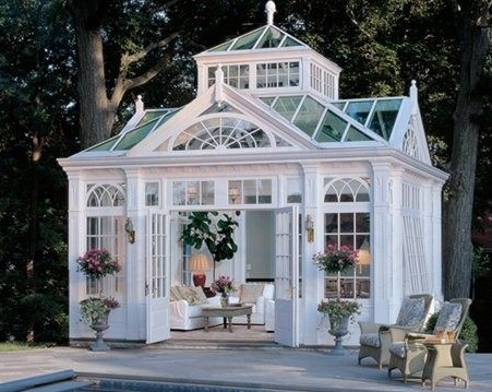 A beautiful, pool-side conservatory.